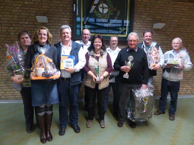 Preisschießen des St.-Johannes Schützenvereins 2016 - Preisträger -