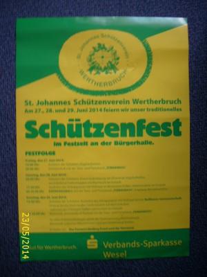 schützenfest 2014 - Plakat