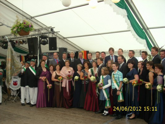 Das Königspaar 2012