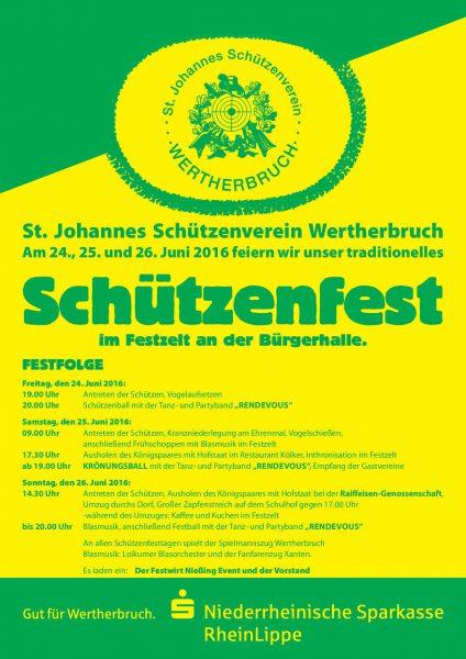 Plakat Schützenfest 2016